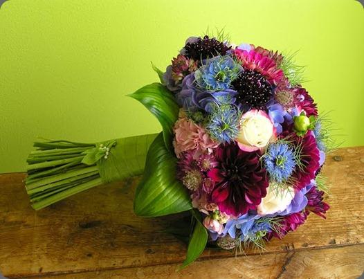 Dahlia Bridal Bouquet Wrap SM robin wood flowers