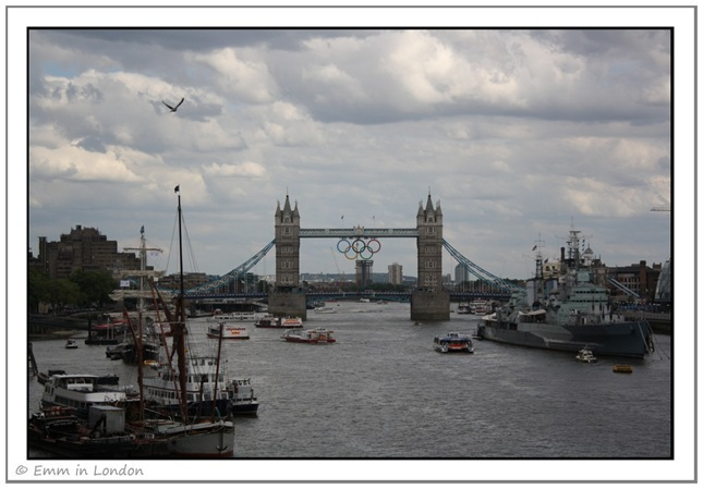 The Olympic Rings at Tower Bridge
