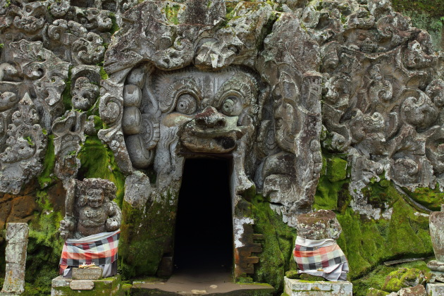 Cave Temple of Goa Gajah at Bali's Ubud