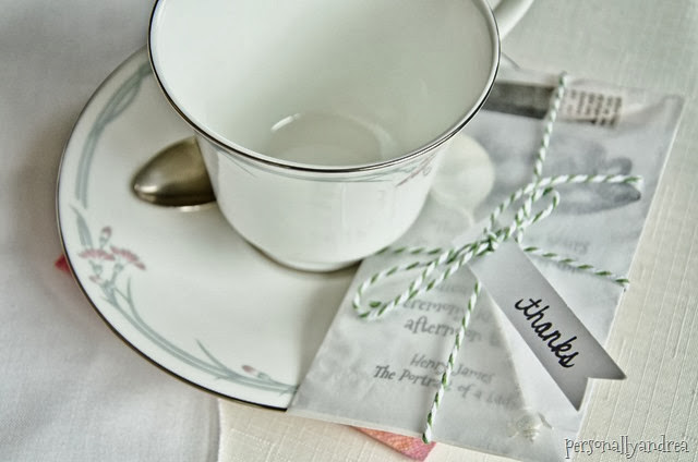 Tea Inspired Party Favour | personallyandrea.com