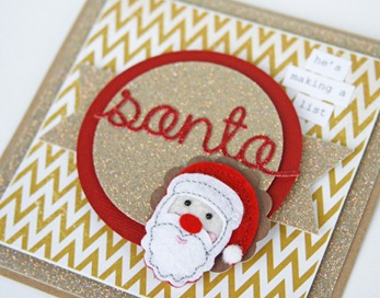 Gretchen McElveen_Santa card_close up