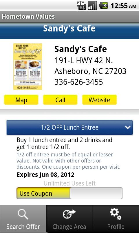 Hometown Values Local Coupons- screenshot