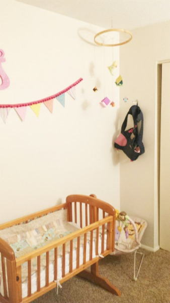 nursery basinnette mobile and wall hook