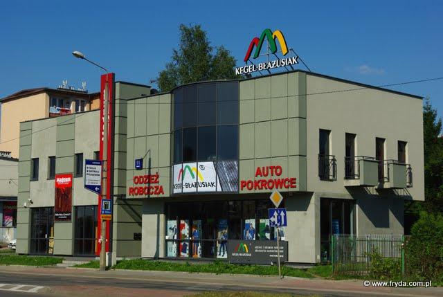 Przedsiębiorstwo Fryda - Partner Handlowy Kegel-Błażusiak Oddział w Bielsku-Białej widok od ulicy Żywieckiej