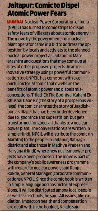 Economic Times Dated 23052011 pAGE 2 Nuclear Educative Comics