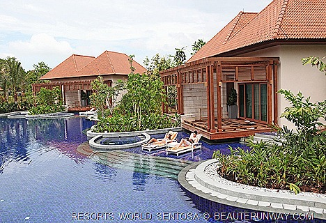 Resorts World Sentosa Beach Villas One Bedroom villa and pool RWS Universal Studios Equarius Hotel Keppel Bay