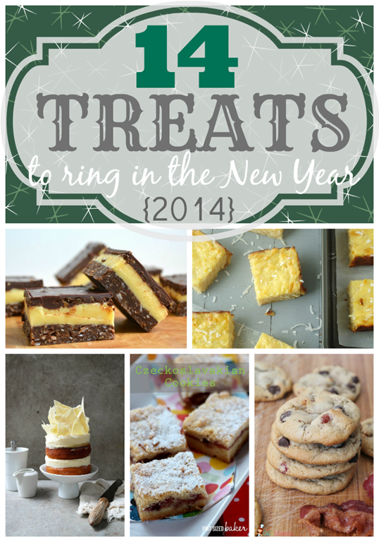 14 Treats to Ring in the New Year With #features #gingersnapcrafts #newyears #recipe
