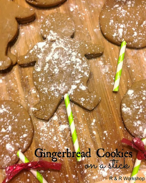 gingerbread cookies on a stick