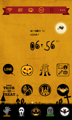 Happy Halloween Dodol Theme - screenshot