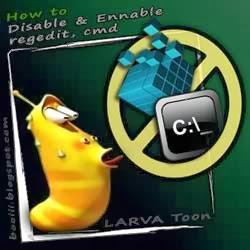 Disable & Enable regedit, cmd  Compare setting in gpedit & regedit (Larva Toon)