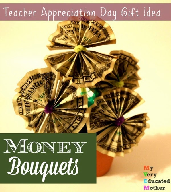 Here's a great Teacher's Gift Idea from @mvemother Money Bouquets