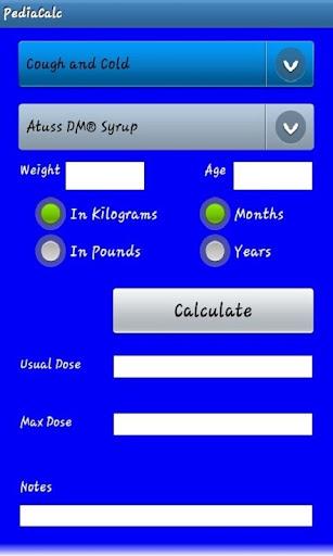 Pediatric Dosing Calculator