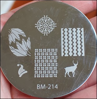 Stamping Schablone Plate BM-214