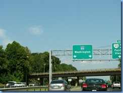 1262 Virginia - I-66 East - Washington sign