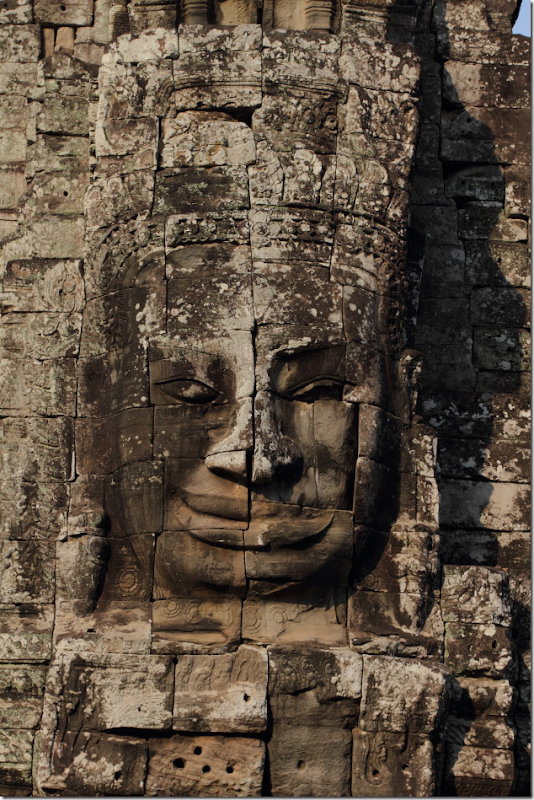 One of the many faces of Bayon Temple, Cambodia