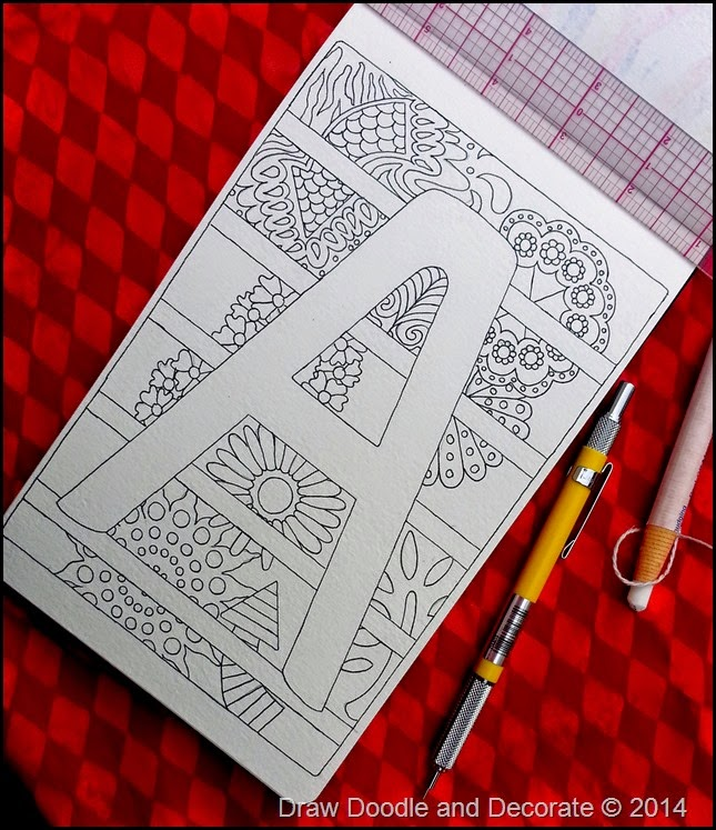 Draw Doodle and Decorate: Block Letters…beginning  A B