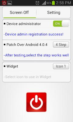 Screen Off and Lock Anywhere - screenshot