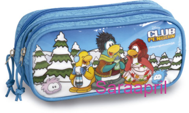 Club Penguin Blue Soft Case 10x21x8 cm :)