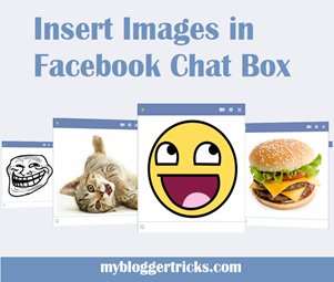 insert images in Facebook Chat box
