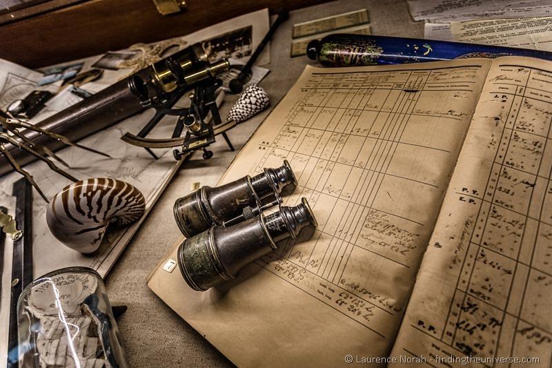 binoculars on log book maritime museum rauma finland