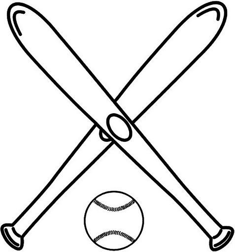 Dibujos De Bates Para Colorear Bate De Beisbol