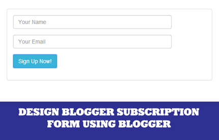 blogger subscription form