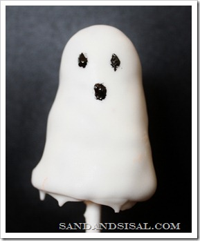 Ghost Brownie Pop