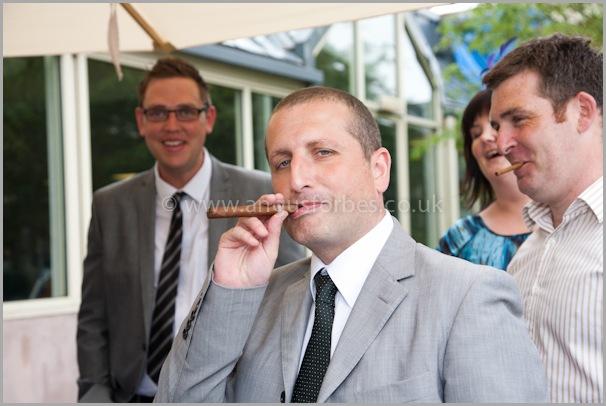 smokers wedding in landmark hotel dundee