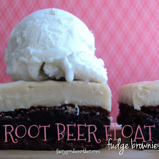 Root Beer Float Fudge Brownies
