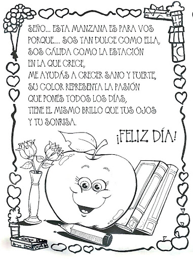 Dia Del Maestro Para Colorear Cartas Imagui