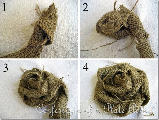 Burlap Rose Tutorial