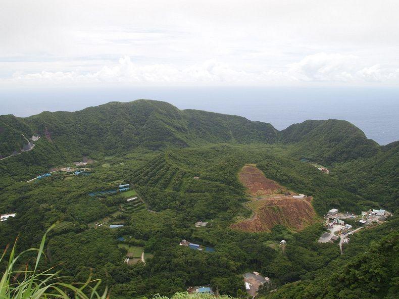 The Inhabited Volcanic Island of Aogashima, Japan ...