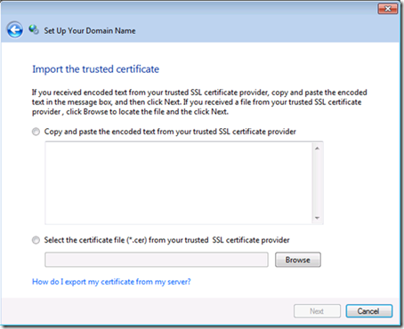 Import the trusted certificate