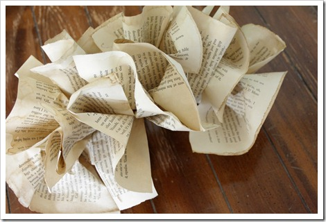 Book page ruffled garland