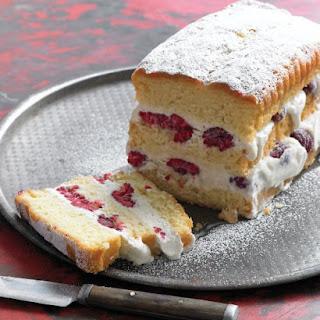 Raspberry Ice Cream Cake.
