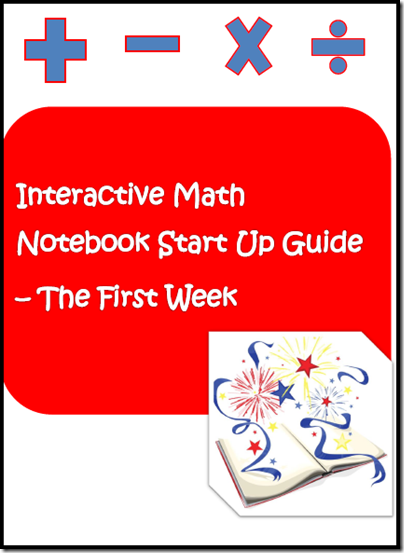 Free start up guide for your interactive math notebook.  Includes a cover, table of contents and one free lesson.  Download now from Raki's Rad Resources.