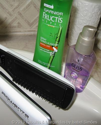 Esticar e alisar o cabelo