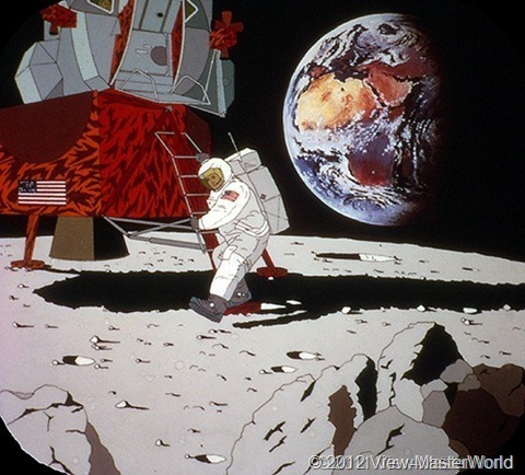 View-Master The 20th Century (B813), Scene C-6: First Man on the Moon, 1969