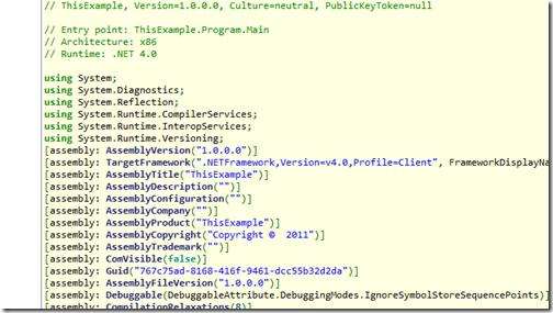 AssemblyInformation from ILSpy- Alternative of .NET Reflector