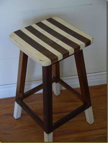 stripe stool striped chalk paint
