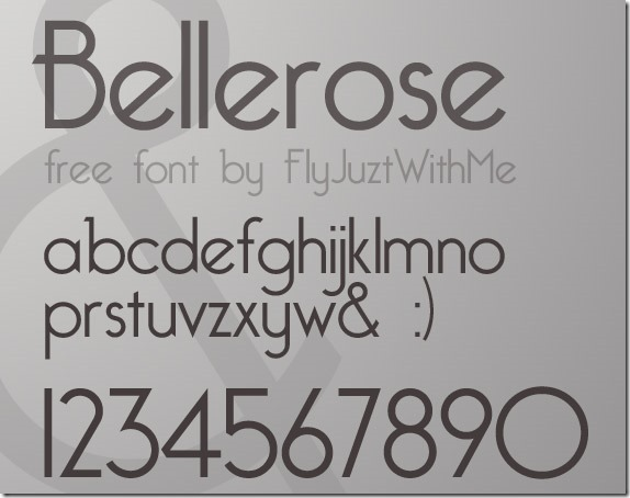 bellerose-free-high-quality-font