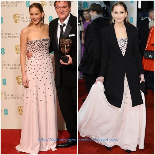 Jennifer Lawrence attends the EE British Academy Film Awards (3)