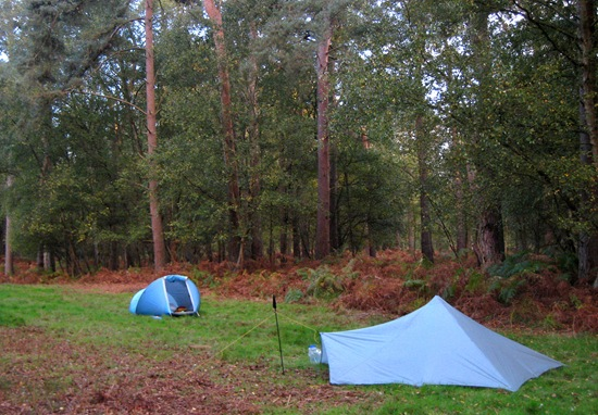 ILLEGAL WILDCAMP IN RUSHFORD HEATH