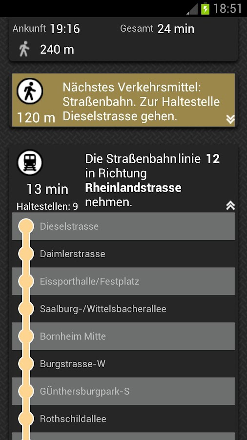 NAVIGON DACH - screenshot