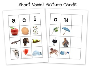 short vowel collage