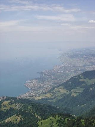 Vue sur le Lac Léman depuis les Rochers-de-Naye