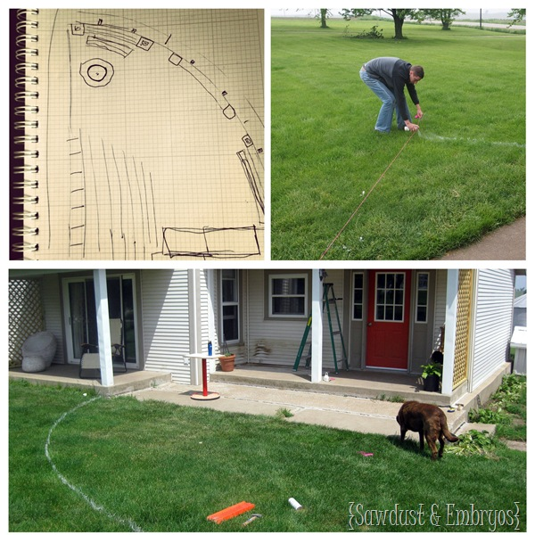Laying out Plans for Pergola Construction {Sawdust and Embryos}