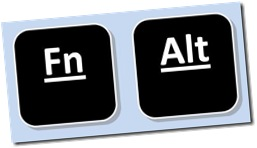 Fn and ALT Keys of the PC keyboards
