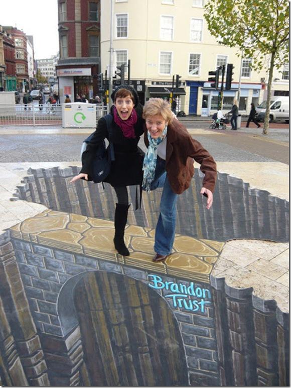 Brandon Trust bridge. Bristol, England 3D paintings