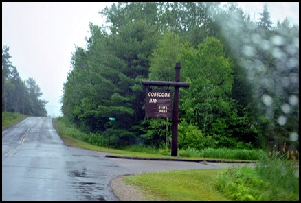 1b - rainy day ride - Cobscook Bay State Park Entrance